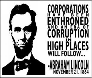 Abraham-Lincoln-Corporations-Enthroned-buzzphoto