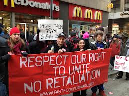 FAST-FOOD STRIKERS