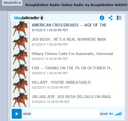 RoughRiderz-RADIO ---  6 RECENT --- AMERICAN CROSSROADS - LIVE JOURNAL - 6-15-15
