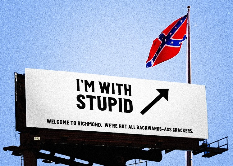 CONFEDERATE FLAG - I AM WITH STUPID