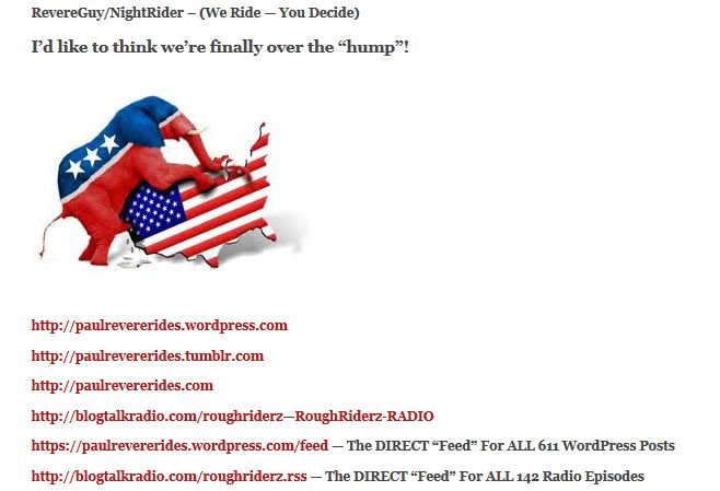 PaulRevereRides-WordPress - GOP HUMPING - MY WEBSITES