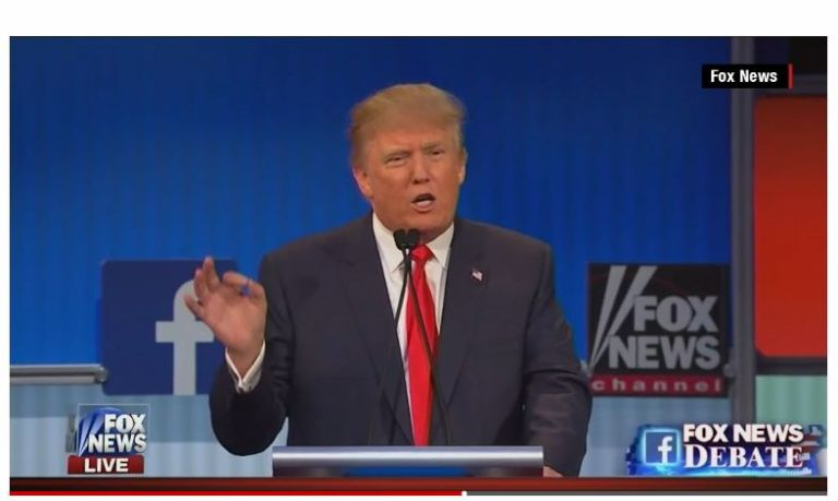 TRUMP - 1ST GOP 2016 DEBATE - 8-7-15