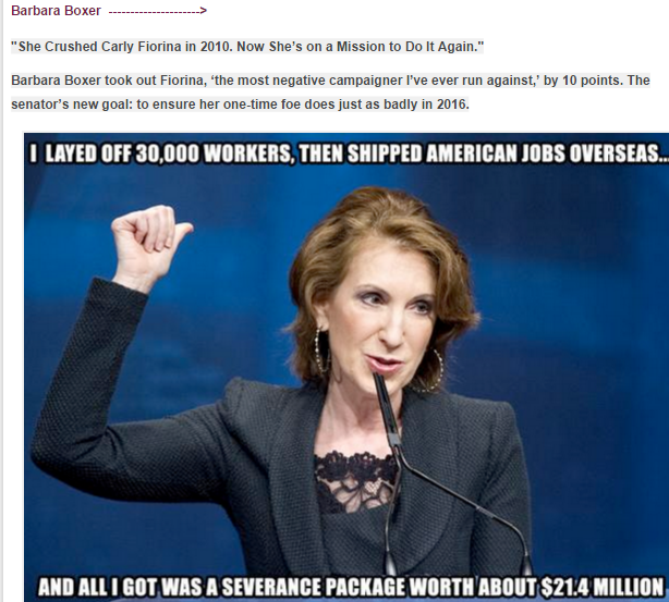 CARLY FIORINA --- I LAID OFF 30000 HP WORKERS --- WITH THE INTRO @ TOP