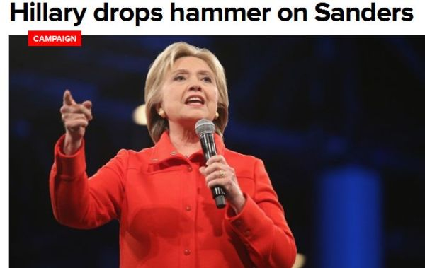 HILLARY DROPS HAMMER ON SANDERS --- 11-4-15
