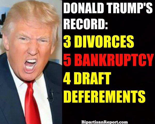 TRUMP --- 5 BANKRUPTCIES --- 6-17-16