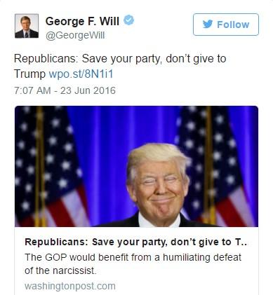 WILL --- TWITTERS --- DUMP THE TRUMP --- 6-25-16