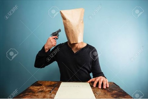 TRUMP SUPPORTERS --- WEAR PAPER BAGS OVER THEIR HEADS --- 11-8-16