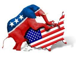 GOP ELEPHANT - HUMPING AMERICA